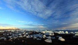 Iceburg Sunset Royalty Free Stock Photo
