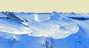 Icecap Landscape Royalty Free Stock Photos