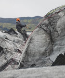 Iceclimber de lheimajökull de ³ de l'Islande Sà Image stock