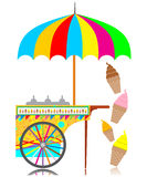 Icecream cart royalty free illustration