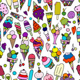 Icecream collection, seamless pattern for your design Royalty Free Stock Photos