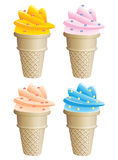 Icecream cones royalty free illustration