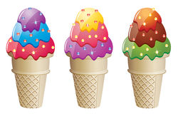 Icecream cones Stock Images