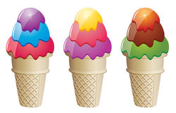 Icecream cones Stock Photo