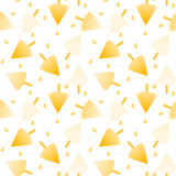Icecream Cones Seamless Background. Orange and pineapple ice cream cones and drops background. Seamless Tile Royalty Free Stock Image