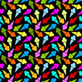 Icecream Cones Seamless Pattern Royalty Free Stock Photo