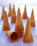 Icecream cones sugar Royalty Free Stock Images