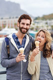 Icecream couple fun Stock Photos