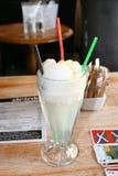 Icecream floater. A lemonade and vanilla ice cream floater Stock Photography