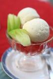 Icecream and fruit Royalty Free Stock Photo