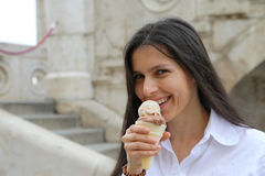 Icecream Girl Stock Image