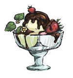 Icecream in glass bowl Royalty Free Stock Photography