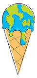 Icecream globe melting Royalty Free Stock Image