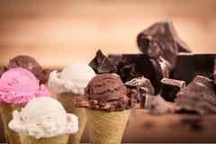Icecream. Ice cream icecream cone scoop strawberry royalty free stock images