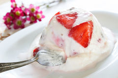 Icecream like parfait dessert Stock Photography