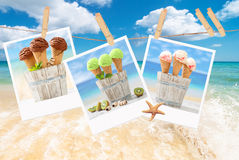 Icecream Polaroids Royalty Free Stock Photography