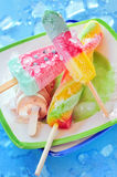 Icecream and popsicle Royalty Free Stock Photography
