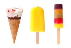 Icecream and popsicles Royalty Free Stock Image