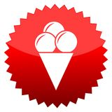 Icecream, Red sun sign Royalty Free Stock Images
