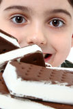 Icecream Sandwich Boy Royalty Free Stock Photography