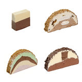 Icecream 4 slices Stock Image