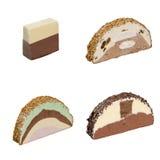 Icecream 4 slices Stock Image
