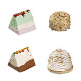 Icecream 4 slices Stock Images