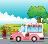 An icecream truck Stock Images