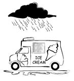 Icecream van Stock Photography