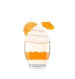 Icecream with Whipped Cream Stock Photos