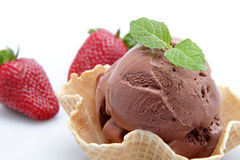 Icecream whit chocolate Stock Photo