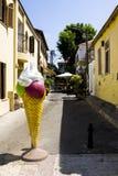 Icecreame på gatan av gamla Jaffa arkivbild