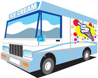 icecreamlastbil royaltyfri illustrationer