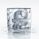 icecube внутри символа фунта иллюстрация вектора