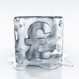 Icecube with pound symbol inside Stock Images