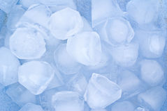 Icecubes. Close up of blue ice cubes Stock Image