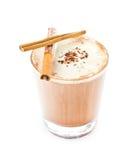 iced混和了在白色背景的frappe咖啡 库存图片