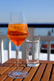 Iced Aperol with Prosecco Stock Images