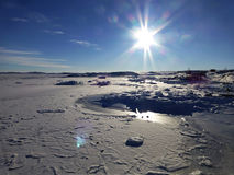Iced Bay Antarctica Stock Images