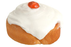 Iced Belgian Breakfast Bun Royalty Free Stock Photo