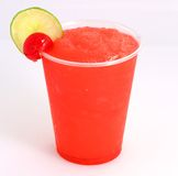 Iced beverage. Refreshing Provocative tropical fruits cherry lemon iced beverage Royalty Free Stock Photo