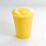 Iced beverage. Refreshing Provocative tropical fruits mango iced beverage Royalty Free Stock Photo