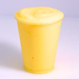 Iced beverage. Refreshing Provocative tropical fruits mango iced beverage Stock Photography
