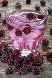 Iced blackberries beverage Stock Photography