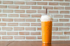 Iced blended cappuccino Royalty Free Stock Images