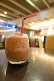 Iced blended frappe coffee in cafe Stock Photography