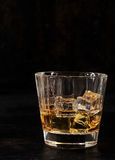 Iced bourbon in a glass tumbler Stock Photography
