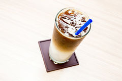 Iced cafe latte Royalty Free Stock Photography