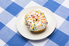 Iced cake donut Royalty Free Stock Image