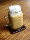 Iced Cappuccino coffee Stock Photo